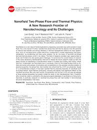 nanofluid two phase flow and thermal physics a new research