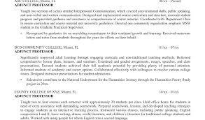 adjunct instructor resume sample resume format for lecturer and applications part time lecturer
