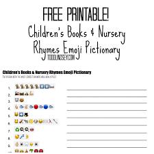 free printable children u0027s books u0026 nursery rhymes emoji pictionary