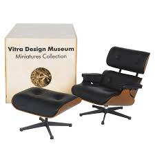 Charles Eames Ottoman Chair Design Ideas Vitra Miniature 5 5 Inch Eames Lounge Chair And Ottoman Stardust