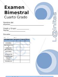 examen de 5 grado con respuestas 4to grado bimestre 5