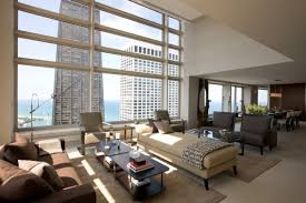 Contemporary Penthouse Apartment In Chicago With Custom Furniture - Contemporary furniture chicago