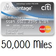 Citi Card Business Credit Card Citi American Airlines Aadvantage Business Card 50k Miles After 3k
