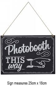 Photo Booth Sign Vintage Affair Photo Booth Direction Sign By Ginger Ray Af 672
