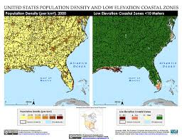 Map Of The Southeastern United States by Maps Low Elevation Coastal Zone Lecz Sedac