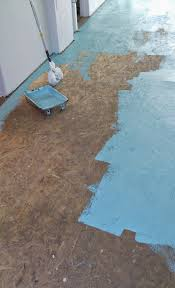 Can You Paint Particle Board Kitchen Cabinets by Diy Painted Particle Board Floor Mmmm Teal Dans Le Lakehouse
