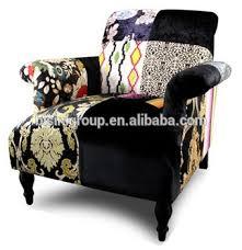 canap espagnol classique noir patchwork meubles un siège canapé en espagnol style
