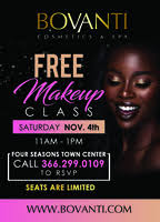 Makeup Classes Charlotte Nc Bovanti Free Makeup Class Charlotte Nc Tickets Sat Nov 18 2017