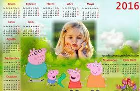 fotomontaje de calendario 2015 minions con foto hacer fotomontaje de calendario 2016 de peppa pig cerdita fotomontajes