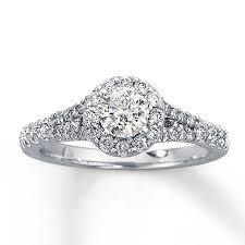 kay jewelers diamond engagement rings kay diamond engagement ring 1 ct tw round cut 14k white gold