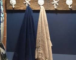 Bathroom Towel Tree Rack Mud Room Foyer Nautical Beach Home Decor Bathroom Towel Rack