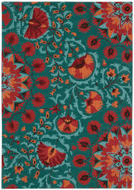 Teal Living Room Rug by Nourison Suzani Suz02 Teal Area Rug