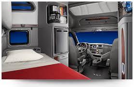Truck Sleeper Interior Model 587 Features U0026 Specification Peterbilt On Highway Trucks