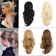 ponytail extension koko reversible clip in drawstring ponytail extension wavy or