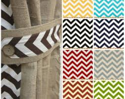 Chevron Pattern Curtains 96 104 Burlap Curtain Two Pleated Panels Pinch Pleat