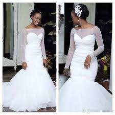 Cheap Brides Dresses Long Sleeve Mermaid Cheap Wedding Dresses 2017 New Designer White
