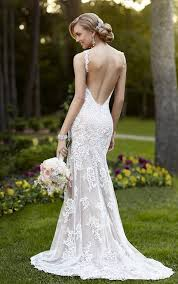open back wedding dresses backless wedding dresses v neck wedding gown with open back