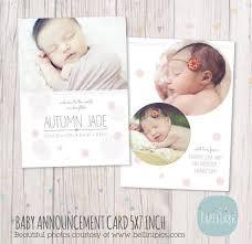 newborn baby announcement card an004 paper lark designs