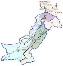 Route Map by China Pakistan Economic Corridor Western Route U2013 Complete And