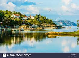 Landscape With Houses by Marstrand Sweden September 8 2016 Documentary Of Inston