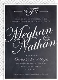 post wedding reception invitation wording post wedding reception invite chalkboard script from my etsy