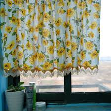 Sunflower Yellow Curtains Contemporary Sunflower Kitchen Curtains Affordable Modern Home