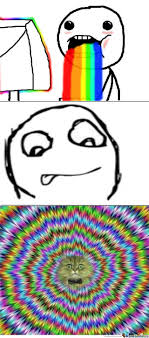 Internet Rainbow Meme - what internet rainbow puke looks like by recyclebin meme center