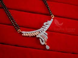 wedding gift jewellery zircon studded mangalsutra for women wedding jewellery
