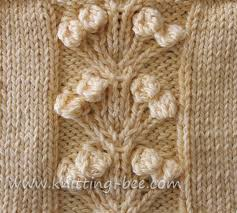 nosegay stitch knitting pattern knitting bee