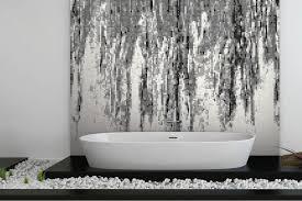 Titanium Bathtub Grey Waterflow Tile Pattern Percolate Titanium By Artaic