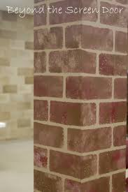 Wall To Paint by How To Paint Walls To Look Like Brick Beyond The Screen Door