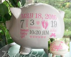 customized piggy bank baptism piggy bank etsy