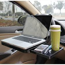 mobile laptop desk for car car portable tray folding computer desk with drawer steering wheel