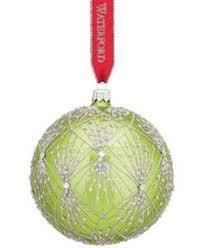 waterford lismore diamond glass ball ornament christmas