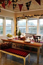 Ideas For Decorating The Kitchen For Christmas by Christmas Kitchen Decoration Ideas Curtains Tablecloth Windows