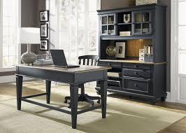 retro home office desk ii jr executive 3 piece home office set in driftwood black finish