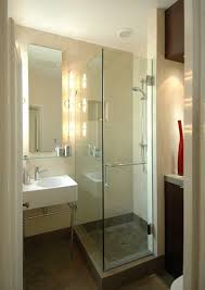 Open Shower Bathroom Design Luxurious White Bathroom Design With Open Shower Covered By