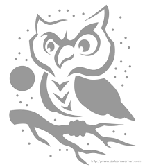 owl on a tree branch u0027 pumpkin carving pattern holiday ideas