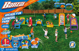 banzai arcade fun carnival park inflatable backyard sports play
