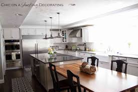 Decorating Kitchen Islands by Plain Decoration Island Dining Table Stylish Design Dining Table