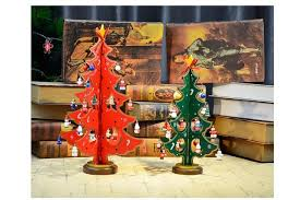 Christmas Decoration For Home Creative Diy Desktop Wooden Christmas Tree Vintage Wooden Craft
