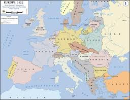 World War 2 In Europe And North Africa Map by Europe After World War I