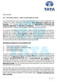 company offer letter template tata motors limited u2014 fake offer letter 899624