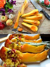 quinoa thanksgiving stuffing roasted butternut squash with curried quinoa stuffing vegan