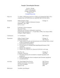 exles of a chronological resume exles of resumes exle resume sles in canada professional