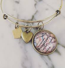 Map Of Youngstown Ohio by Youngstown Ohio Map Charm Bangle Bracelet U2013 Celebrate Local Shop