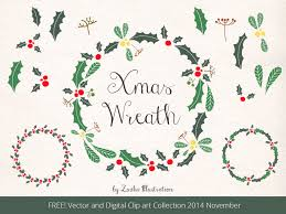 free christmas holly wreath clipart 18