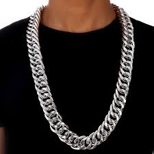 long mens necklace images Buy big bcuban chain necklace 260mm width 35 4in jpg