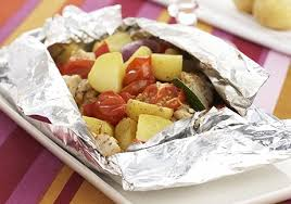cuisine papillote pommes de terre poulet et légumes en papillote recettes de
