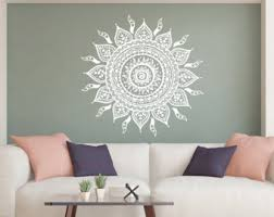 Home Decor Decals Mandala Wall Decal Etsy
